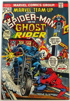 Marvel Team-Up (vol.1) #15 by Gil Kane, Frank Giacoia, John Romita & Gaspar Saladino #GhostRider #SpiderMan