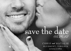 "I think this is my favorite ""Save the Date"" idea. So cute and simple. Put it on a post card, perfect."