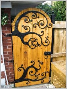 Another Great Idea For Your Garden Gate. If The Decorative Hinges Are A  Little Beyond