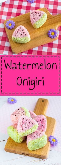 Watermelon Onigiri Watermelon Onigiri – Fun to make & delicious to eat, watermelon onigiri are the perfect summer bento box or picnic lunch item! Learn how to make these adorable summer rice balls by visiting www. Bento Box Lunch For Kids, Cute Bento Boxes, Lunch Box, Bento Tutorial, Kawaii Cooking, Kawaii Bento, Lunch Items, Picnic Lunches, Rice Balls