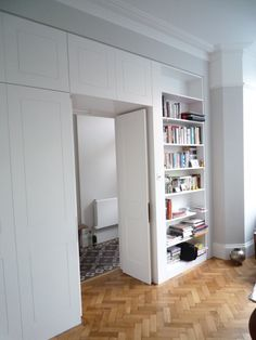Wardrobes through to ensuite Bedroom Cupboard Designs, Bedroom Closet Design, Bedroom Wardrobe, Built In Wardrobe, Bedroom Office, Built In Cupboards, Separating Rooms, Build A Closet, Living Room Windows