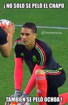 Aviso de último momento, no solo se peló el chapo, memo Ochoa también! #soccer #ochoa #memes #chapo #guzman