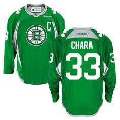 baedb4437 Boston Bruins  33 Zdeno Chara Green St. Patrick s Day jersey