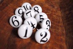 Numbers White Ceramic