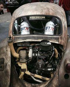 Dung beetle, what nice cans you have. Vw Turbo, Jetta Vw, Vw Modelle, Combi Split, Vw Rat Rod, Porsche, Kdf Wagen, Vw Engine, Volkswagen New Beetle