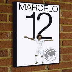 Marcelo Vieira Canvas Print - Real Madrid Soccer Star - Pick Your Size, art, wall decor, home decor, world cup, canvas, brazil by Graphics17 on Etsy