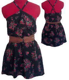 Sweetheart Dress in Black Floral by BettyJeanDresses on Etsy