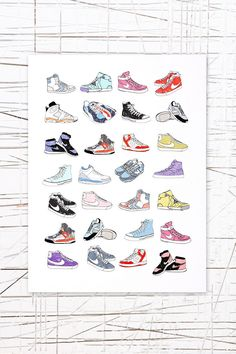 East End Prints: Trainers Wall Art