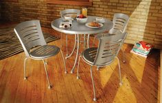 Gelato Outdoor Furniture Collection | Welded, steel frames | Offered in 9 frame colors | Dining, balcony & bar height | Made-to-order in U.S.A.