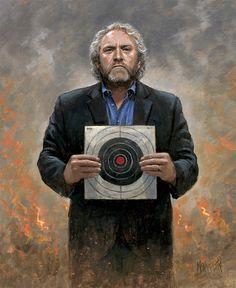 Patriotic - Political - Andrew Breitbart - No Fear - McNaughton Fine Art Jon Mcnaughton, Jill Dando, Sandy Hook, Great Awakening, Moment Of Silence, Canvas Signs, Fake News, Politics, Fine Art