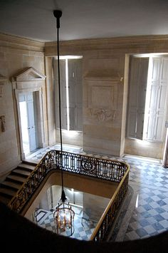 Floor ~ Main stairs of Petit Trianon. The Petit Trianon is a small château…