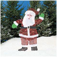 4' Pre-Lit 2D Santa at Big Lots.  #BigLots