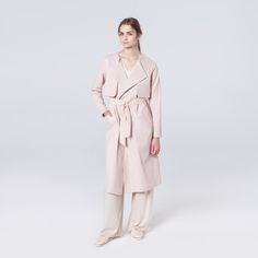 Wave Trench Pale Pink Pale Pink, Trench, Duster Coat, Waves, Spring, Cotton, Jackets, How To Wear, Fashion