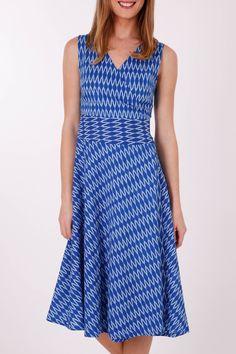 that bird label MAGGIE Wrap Dress Zig Zag Ikat - Womens Knee Length Dresses - Birdsnest Clothing Online