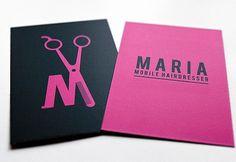 Carte Simple Et Coloree Dune Coiffeuse A Domicile Mobile Hairdresser
