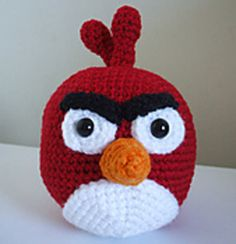 "Amigurumi Angry Birds-Cardinal - Free Pattern - PDF click ""download"" or ""free Ravelry download"" here: http://www.ravelry.com/patterns/library/angry-birds---cardinal"