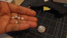 My Shabby Chic Pearl Flower tutorial