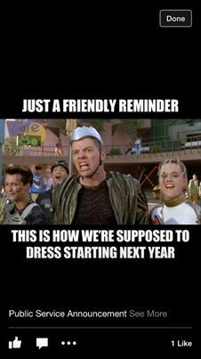How Back to the Future thought we would dress in 2014 !