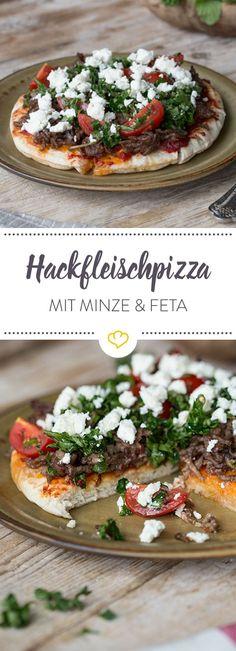 Unsere Hackfleischpizza spart dir zwar eine ganze Menge Zeit am Herd, der Geschmack kommt aber keinesfalls zu kurz. Orientalisch-würzig und einfach lecker!