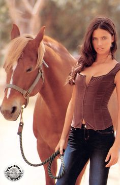Adriana Lima and The Horse - Misc Scans: General Clothing