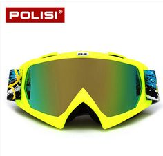 POLISI Professional Ski Goggles Resin frames Mountain Skiing Men Women Snow Skiing Sun Glasses Eyewear