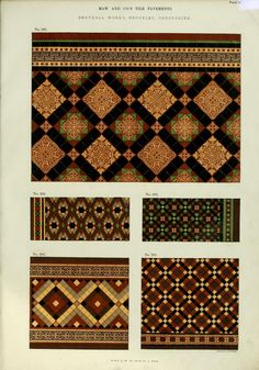 Patterns of Maw and Co.'s encaustic tile, geome...