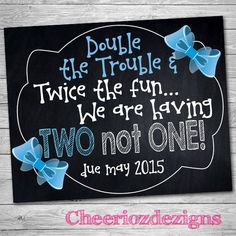 Pregnancy Announcement Twins Gender Reveal by CheeriozDezigns