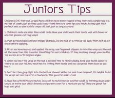 Jamberry nail application for kids