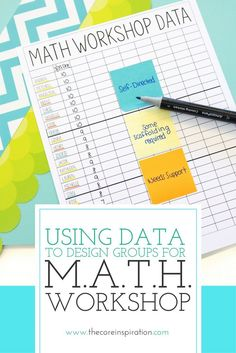 Learn how to use pre assessment data and student observations to create the most effective and efficient small groups for M. Workshop in your classroom. These strategies make differentiating math small groups quick and easy. Fourth Grade Math, First Grade Math, Sixth Grade, Second Grade, Grade 3, Math Rotations, Math Centers, Numeracy, Ks1 Maths
