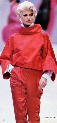 Linda Evangelista  - Gianfranco Ferre'  91'