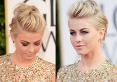 Julianne Hough Edgy Fauxhawk for Wedding - 2013 Golden Globe Awards Hairstyles - super cute style! Maybe this summer my hair will be long enough to stay up like this