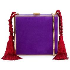 Alessandra Rich tasselled square clutch