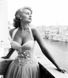 """Sophia Loren In what is perhaps typical of Sophia, when asked how she still looked so good at fifty, she just smiled and said, """"It's my job, darling."""" Gorgeous then, gorgeous now. She's like an onion, fantastic all the way through."""