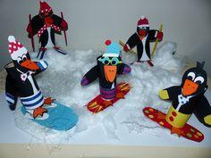 Met de Olympische winterspelen in aantocht is deze groep leuk om te maken. Gratis patroon bij www.facebook.com/knutselwerkstukken