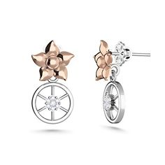 MEZZOTEK Womens 18K Stud Earrings 007 Carat GH Color SI Clarity White Rose  Gold >>> Want additional info? Click on the image. Note:It is Affiliate Link to Amazon.