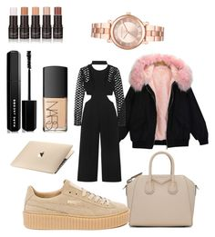 """""""Cool"""" by madisonkiss on Polyvore featuring self-portrait, NARS Cosmetics, Marc Jacobs, Givenchy, Puma and Michael Kors"""