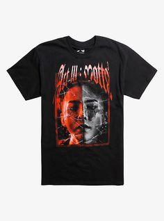 G-Dragon Face Split T-Shirt, BLACK