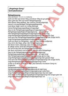 www.unterrichtsmaterial.ch - Musik - Singen / Lieder - Regehege - Song - (Arbeitsblätter, Lektionsreihen, Nachhilfe-Material, Prüfungen/Lernkontrollen, Schulmaterial, Unterrichtshilfen) für die Schule (Lehrerinnen und Lehrer, Eltern, Schüler)