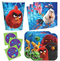Angry Birds FREE printable photo props Angry Birds Movie Party