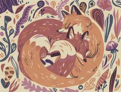 fox illustrations by various artists.