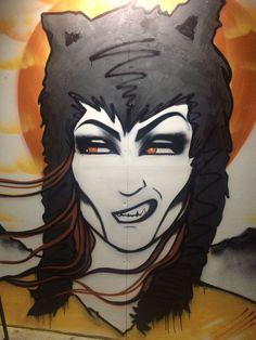 Piece by Jess Tobin AKA Novice painted at a Lifestyles live painting event Art Work, Street Art, Batman, Superhero, Live, Illustration, Painting, Fictional Characters, Artwork