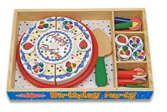 For Tenley's 2nd bday - Melissa & Doug Birthday Party Cake - Wooden Play Food With Mix-n-Match Toppings and 7 Candles