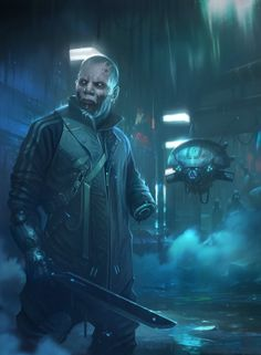 Cyberpunk by Piotr Krezelewski Cyberpunk 2020, Cyberpunk Kunst, Sci Fi Kunst, Steampunk, Blade Runner, Neon City, Paladin, Science Fiction, Shadowrun Rpg