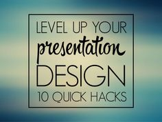 Level up your presentation design by @orsnemes.  10 quick and easy design hacks to turn your next PowerPoint into eye candy.