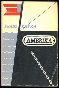 """*A little clumsy/ugly cover for a 1965 Schocken Books release of Kafka's """"Amerika,"""" but I kinda like it. The Martian, Cover Art, Dog Tag Necklace, Typography, Books, Francis Bacon, Authors, Trust, Happiness"""