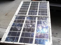 Build your own electricity producing solar panels.