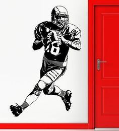 Wall Sticker Vinyl Decal American Football Super Bowl Quaterback Decor (z2240)