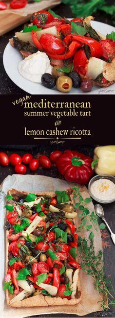 This Mediterranean summer vegetable tart is brimmi…