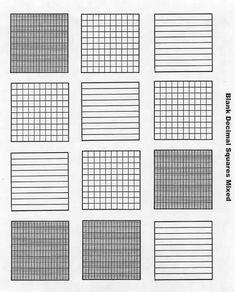 Base 10 Block Template Picture Mathematics Pinterest