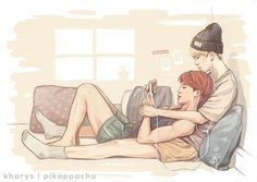 YoonMin. I don't ship it but this art is so incredibly cute I couldn't not pin it